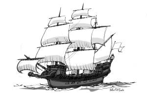 XVI Century ship