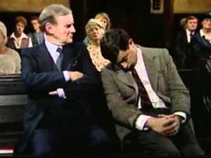 Mr Bean asleep