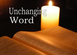 Unchanging word