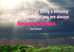 Blessing quote Joel Osteen