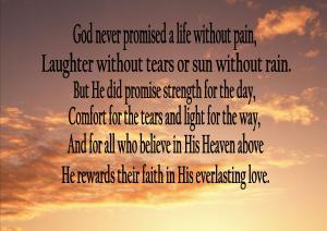 God Never promise
