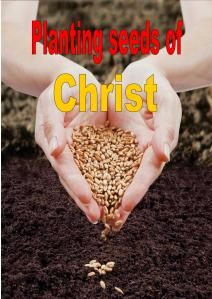Planting seeds of Christ