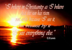 Quote about Faith CS Lewis
