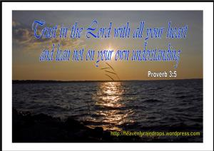 Trust to the Lord proverb  3 5