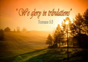 We glory in tribulations
