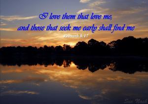 Proverb 8 17 - Karina's Thought - Sue Nash