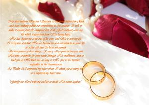 Wedding vow 1 - Karina's Thought
