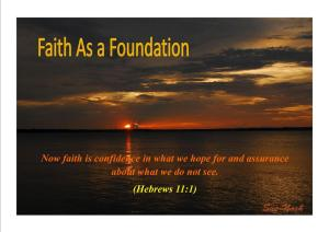 FAITH AS A FOUNDATION 2 - Karina's Thought