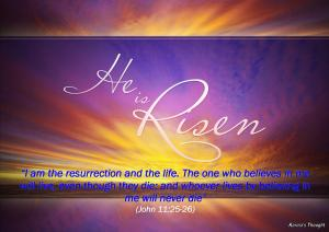 HE IS RISEN-Karina's Thought