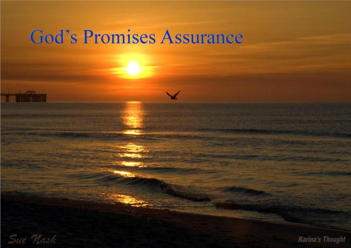 God's Promises Assurance -Karina's Thought -Sue Nash