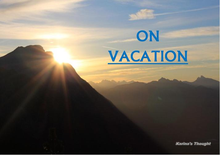 ON VACATION -Karina's thought